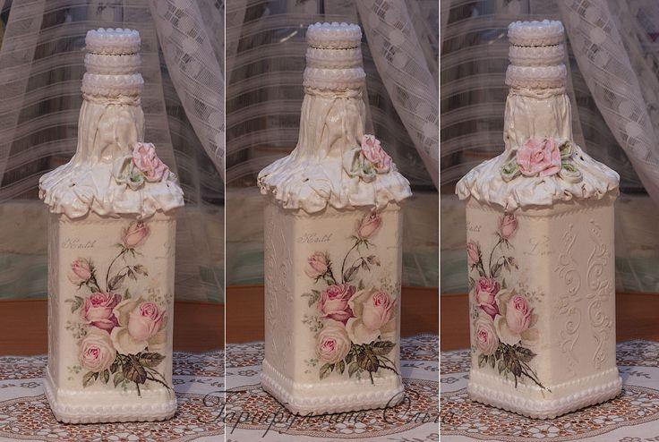 Декупаж - Сайт любителей декупажа - DCPG.RU   Бело-розово-розочковое и шкатулка с имитацией складок