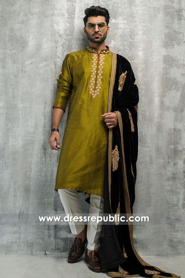 1cf1e7f8bf Kurta Shalwar & Shawl - DRM5197 in 2019 | Men's Shalwar Kameez Designs / Kurta  Salwar Collection for Ramadan & EID 2014 | Mens kurta designs, Velvet  shawl, ...