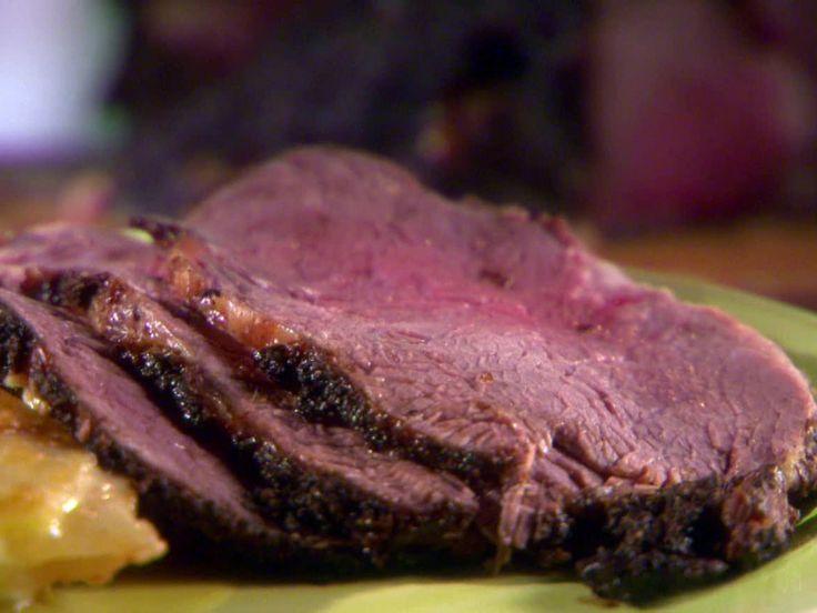 Brewed Awakening Rib Roast recipe from Sunny Anderson via Food Network