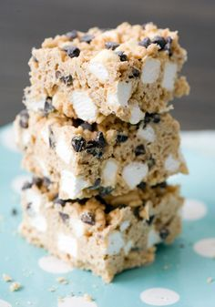 Rocky Mountain Avalanche Bars - divine bars of white chocolate, peanut butter, marshmallow, and rice krispies. YUM.