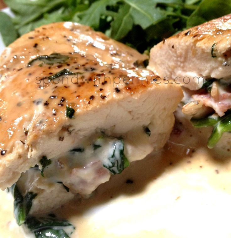 Stovetop stuffed chicken breasts
