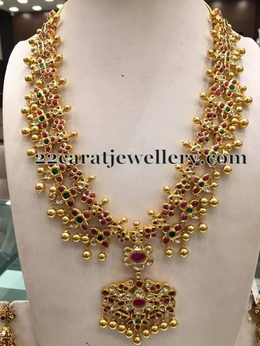 Jewellery Designs: Ruby Studded Short Necklace