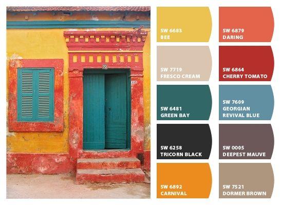 Torquoise door - Daring carnival colors