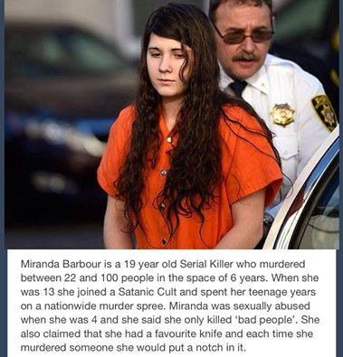 Wow 19 year old serial killer!                              …