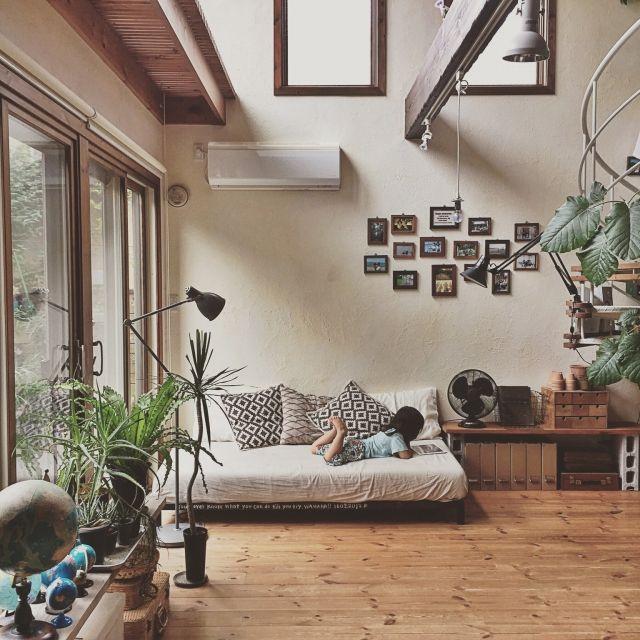 Overview/配置いろいろお試し中/コンクリートブロックの棚/夏休み…などのインテリア実例 - 2015-07-22 20:20:53 | RoomClip(ルームクリップ)