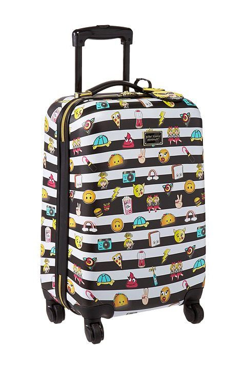 Betsey Johnson Emoji 3 Small Carry-On Luggage (Black/White) Carry on Luggage - Betsey Johnson, Emoji 3 Small Carry-On Luggage, BRL0000H, Bags and Luggage Carry on, Carry on, Luggage, Bags and Luggage, Gift, - Street Fashion And Style Ideas