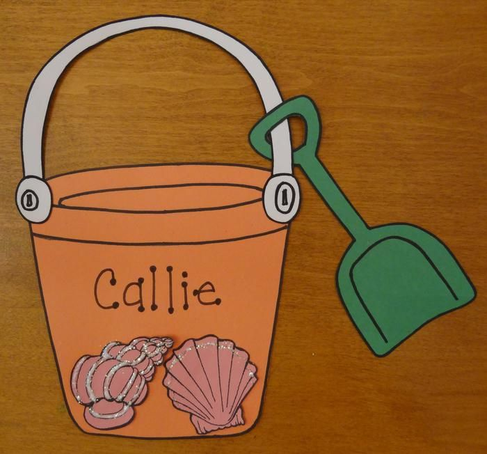 Cute Beach Pail Shovel Craft
