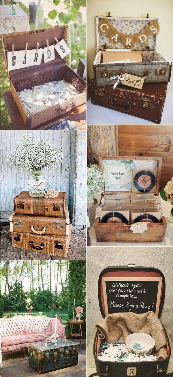 Vintage Hochzeitsideen mit Koffern   – Weddings/Bridal Showers