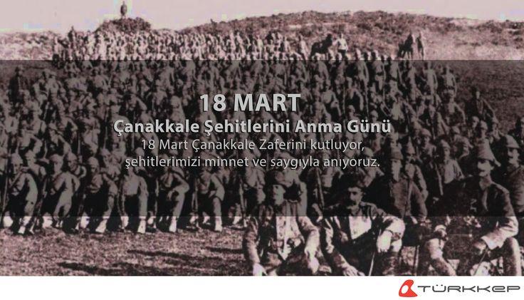 18 Mart Çanakkale Zaferini kutluyor, şehitlerimizi minnet ve saygıyla anıyoruz.  #18Mart #ŞehitleriAnmaGünü #ÇanakkaleZaferi