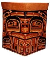 Northwest Indian carved box
