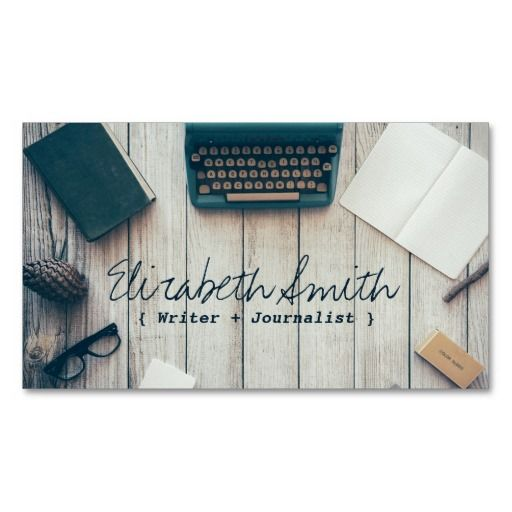 68 best authors and writers business cards images on pinterest writer author cool vintage typewriter professional business card reheart Images