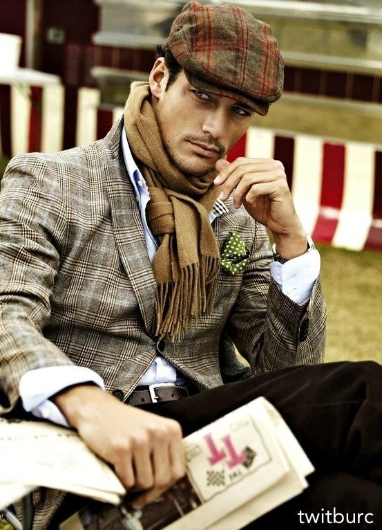 Scarf && paperboy hat