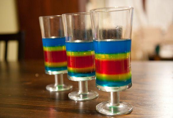 Double Rainbow Shots Recipe — Dishmaps