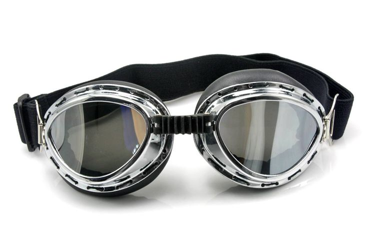 Neverland Vintage Style Aviator Pilot Motor Motorcycle Goggles Helmet Glasses Silver