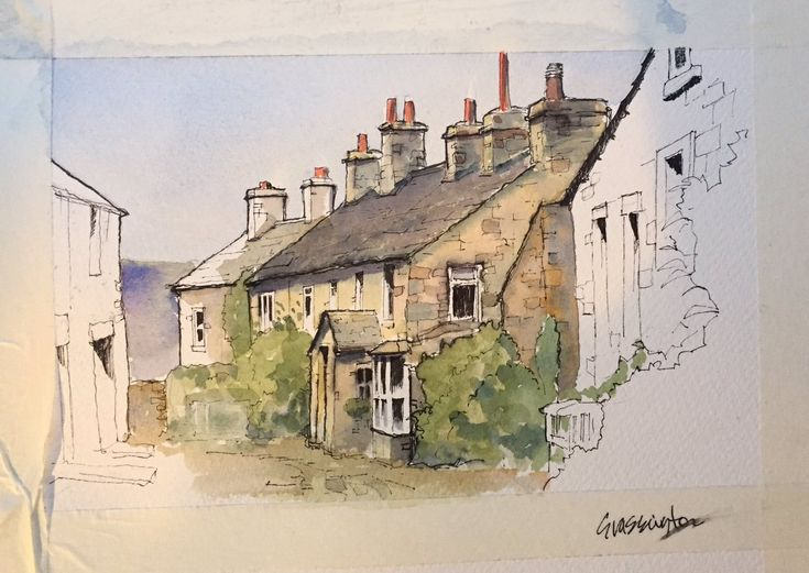 JohnDeeHarrison (@DrawnYorkshire) | Twitter Grassington cottages