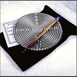 I used one of these little 5-inch Labyrinths to meditate during my chemo appts., and to reduce anxiety.  Sure helped me.