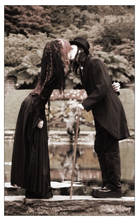"""""""Goth Dating"""" - Love is the bottom line for humanity, and it's highmark for us all ~:^)>"""