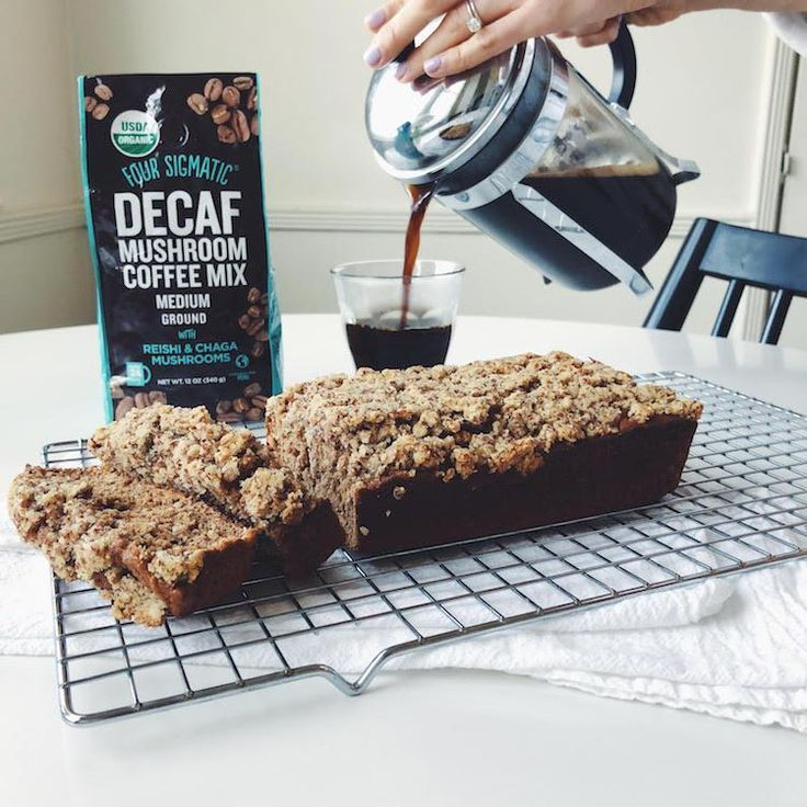 Four Sigmatic | Decaf Coffee Cake with Reishi & Chaga