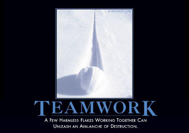 Despair.com Teamwork Demotivator - Top Yankee Swap Gift Ideas for 2013 by MyUntangledlife.com