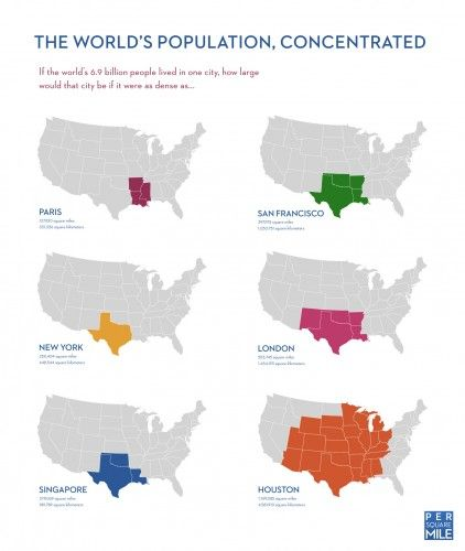 World Population Concentrated | ArchDaily