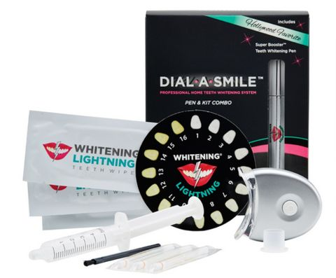 Dial a Smile Professional Home Teeth Whitening Kit and Booster Pen