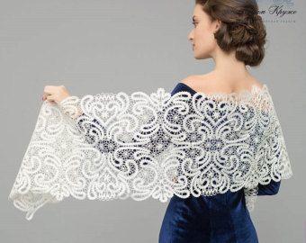 Bobbin Lace Drape Frosty pattern Vologda bobbin lace by MadamKruje