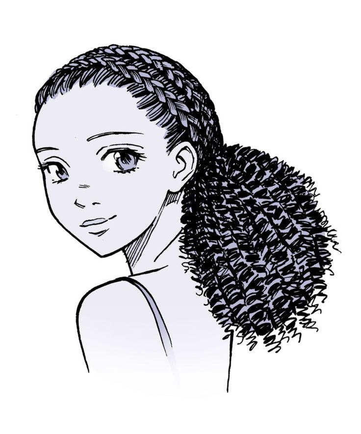 Anime Hair Manga Hair How To Draw Curly Hair Anime Curly Manga Manga Hair Ponytail Drawing Curly Hair Drawing