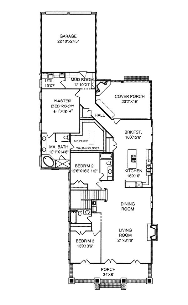 Damascus Southern Country Home Plan 024D-0797 | House Plans and More