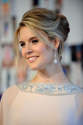 Red carpet hairstyle. Beautiful updo - Maggie Grace. Celebrity Hairstyle.
