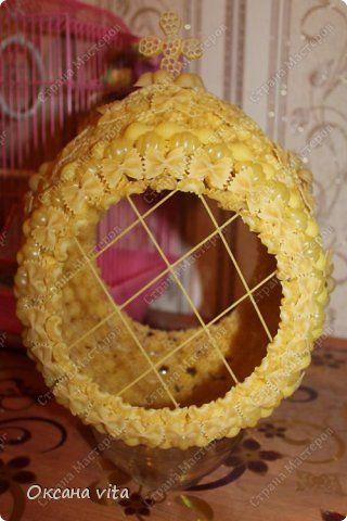 Мастер-класс Моделирование конструирование мк пасхальное яйцо из макарон Продукты пищевые фото 12