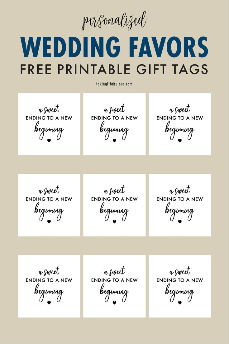 A Sweet Ending To A New Beginning Free Printable Gift Tags In 2021 Free Printable Gift Tags Gift Tags Printable Wedding Printables