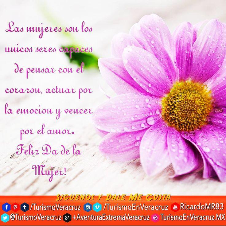 Las mujeres son los únicos seres capaces de pensar con el corazón, actuar por la emoción y vencer por el amor. ¡Feliz Día de la Mujer! http://www.turismoenveracruz.mx