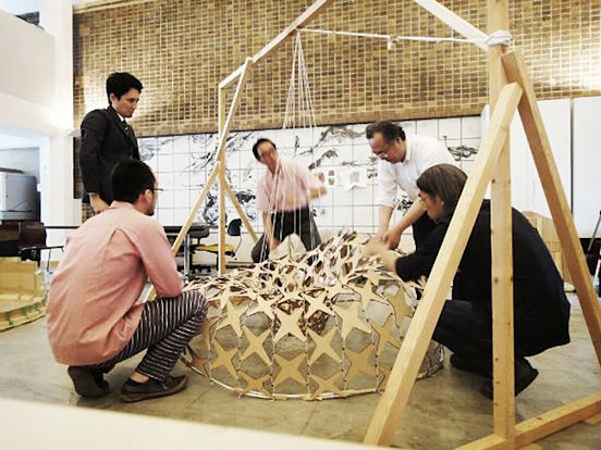 Ninety-Nine Failures Pavilion Built with Ninja Steel Pillows