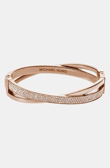 @Michael Dussert Kors 'Brilliance' Crisscross Hinged Bracelet | @Nordstrom