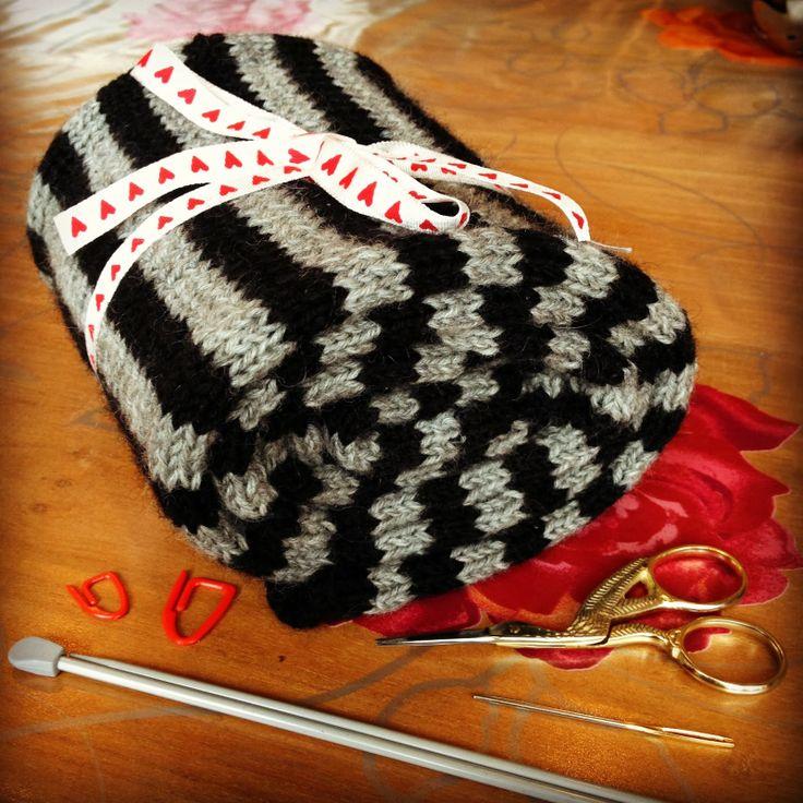 Scarf (115 stripes) Atelier Eem: WIP update gestreepte sjaal / gehaakt fruitbakje