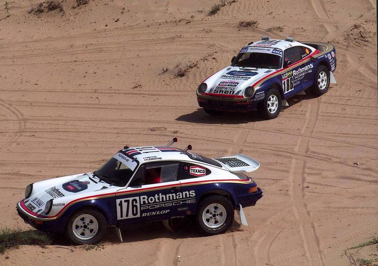Porsche 911 4x4 1984 and 959 4x4 1986 dakar winners