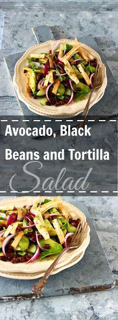 Jagruti's Cooking Odyssey: Avocado, Black Beans and Tortilla Salad