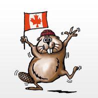 Symbole du Canada : feuille d'érable, drapeau canadien, hockey et castor - Symboles et emblème du Canada