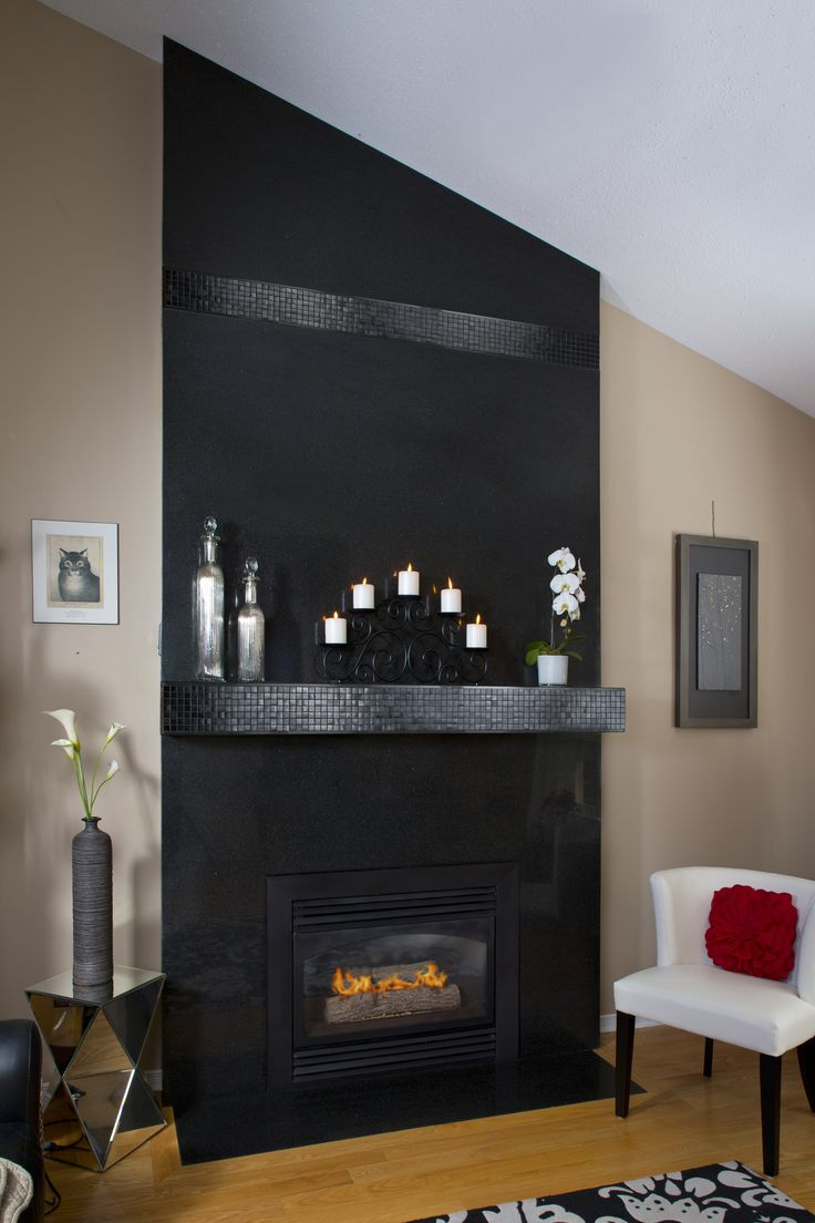 This Fireplace Surround Is Made Of Floor To Ceiling