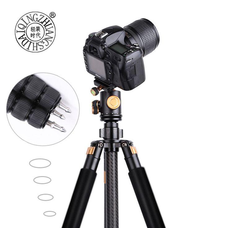 >> Click to Buy << 166cm carbon fiber tripod ball head camera mount tripie para camara professional video dslr digital tripod monopod 20kg load #Affiliate