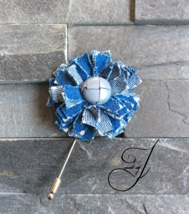Jeans Lapel flower/pin