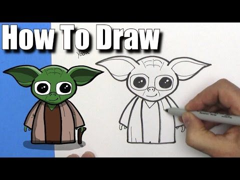 How To Draw Cute Cartoon Luke Skywalker - EASY Chibi - Step By Step Kawaii - YouTube