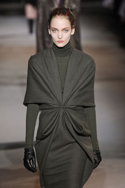 Haider Ackermann FW 2012: Olive layers.