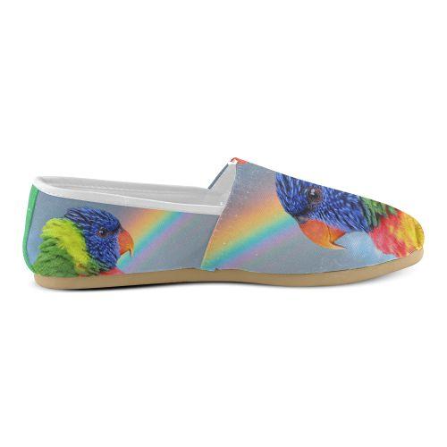 Rainbow Lorikeet Women's Casual Shoes. FREE Shipping. FREE Returns. #artsadd #sneakers #parrots