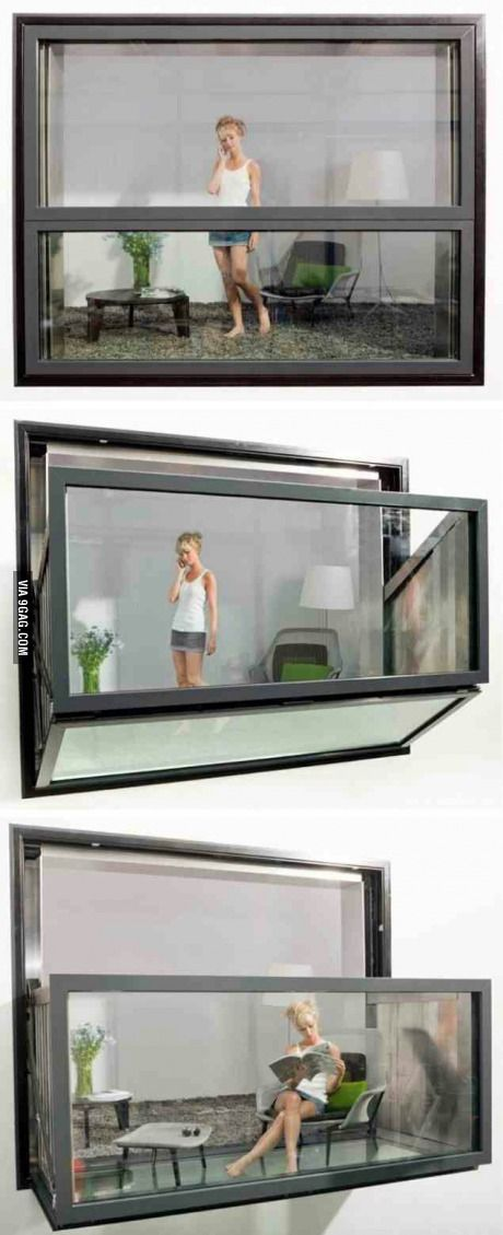 Window that turns into a balcony...