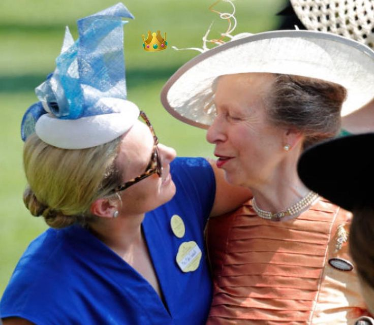Mother and daughter (princess Anne and her daughter ) . .The British royal family attended the first day of Ascot race on June 20th 2017