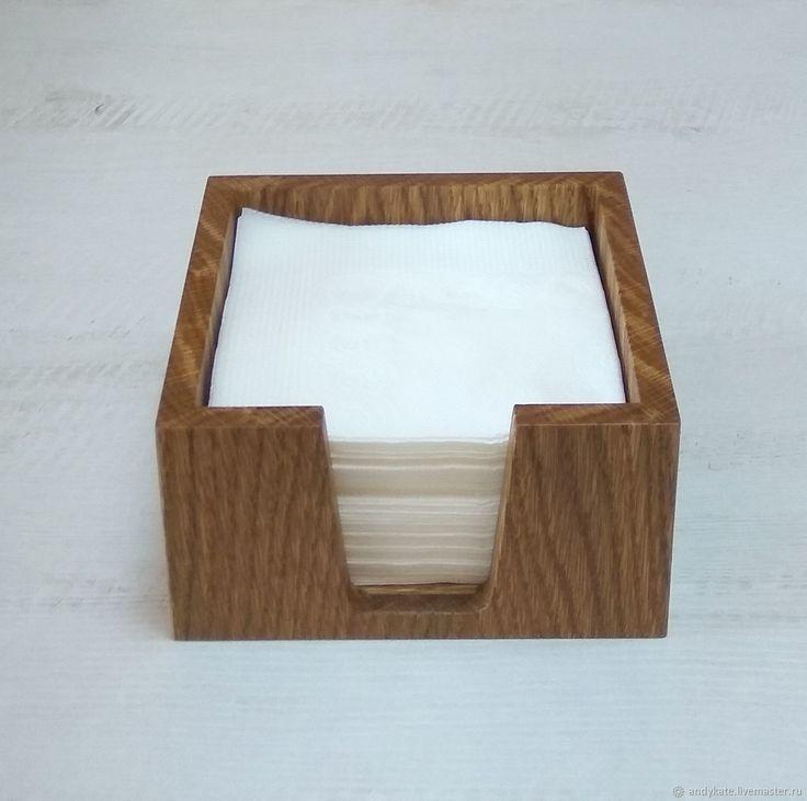 Салфетница из дуба (145х145х75мм) – купить в интернет-магазине на Ярмарке Мастеров с доставкой