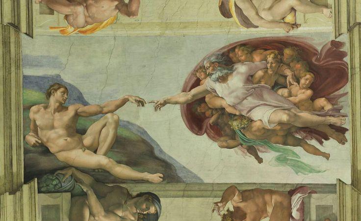 """Michał Anioł- """"Stworzenie Adama"""" 1510"""