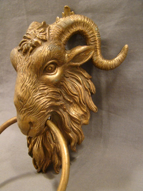Vintage BRASS Figural GOTHIC CASTLE Goat RAMS HEAD & HORNS Mansion DOOR  KNOCKER | Knocking Knockers | Pinterest | Door knockers, Door knockers  unique and ... - Vintage BRASS Figural GOTHIC CASTLE Goat RAMS HEAD & HORNS Mansion