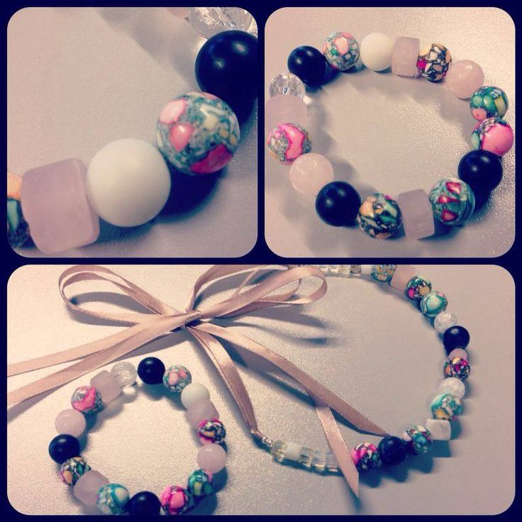 Браслет и колье ручной работы из натуральных камней. Handmade bracelet & necklace.